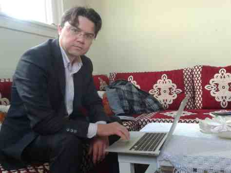 Ibrahim Cin at his office in Eastwood School. Credit: Kate Wilson