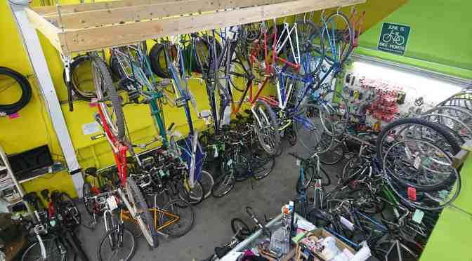 """<span class=""""entry-title-primary"""">Growing your friendly community bike shop</span> <span class=""""entry-subtitle"""">Fundraising party planned to improve BikeWorks North</span>"""