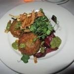 Joe Allen Quinoa and Pea Fritters