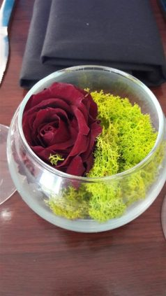 Studio Kitchen Table Flower Decoration