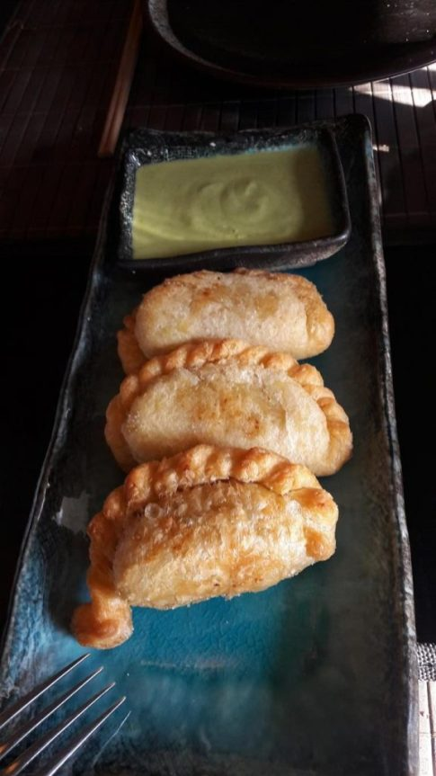 Sticky Mango Malaysian Chicken Curry Puffs