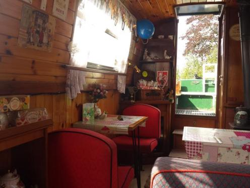 Safari Narrowboat Tearoom Interior