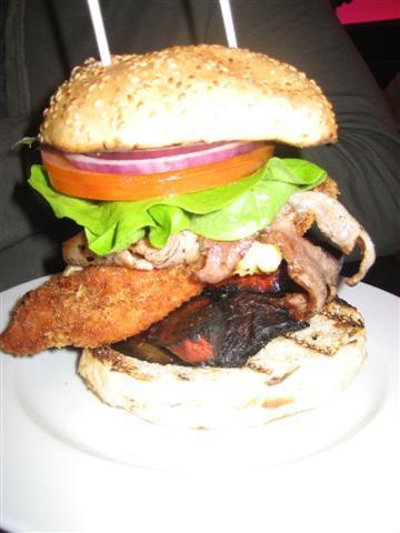 GBK Chicken, Avocado and Bacon Burger