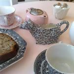 High Tea cake and tea