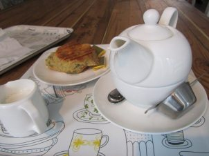 Yumchaa Tea and Scone
