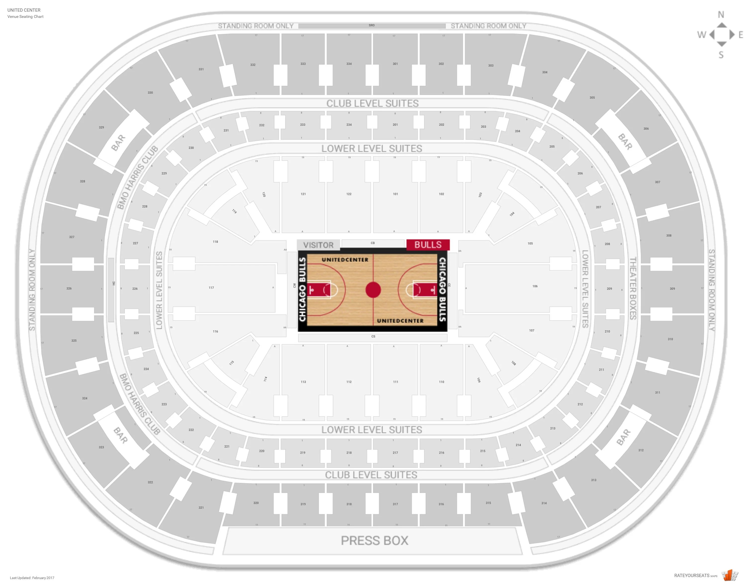 Chicago Bulls Seating Guide