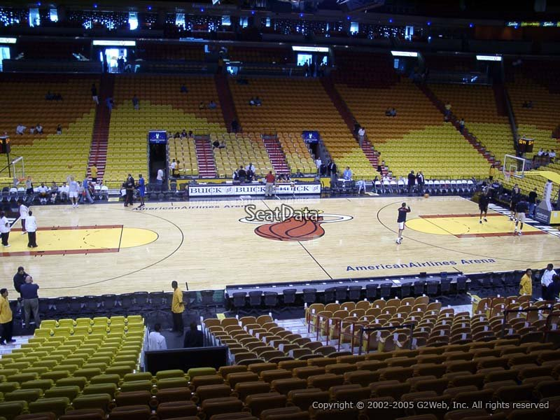 Americanairlines Arena Section 119  Miami Heat