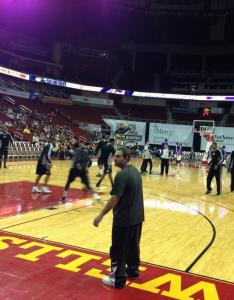 Seat view for wells fargo arena floor row  also des moines ia basketball seating rh rateyourseats