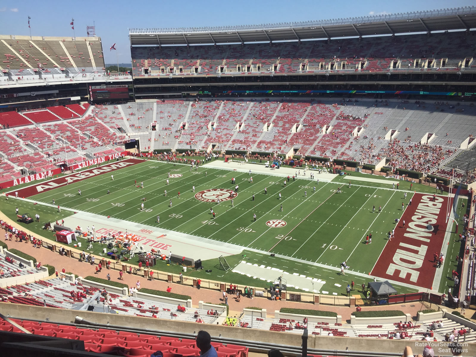 Bryant Denny Visitor Sections