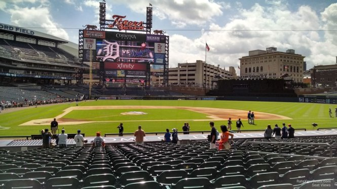 Comerica Park Seating Chart With Row Numbers | Cabinets ...