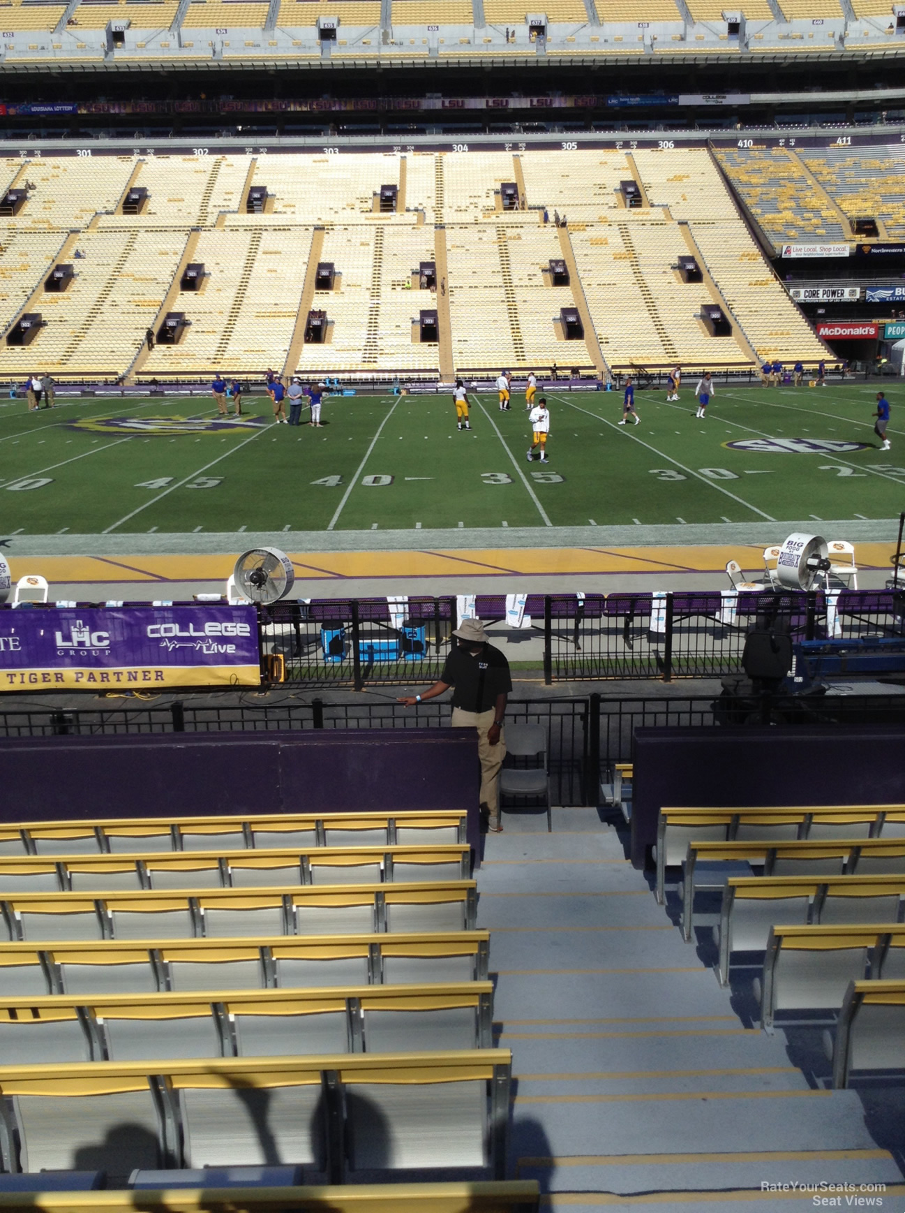 Lower Level Sideline  Tiger Stadium Football Seating