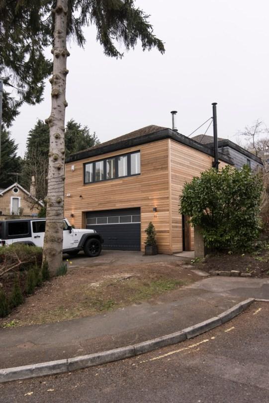 Wooden exterior cladding