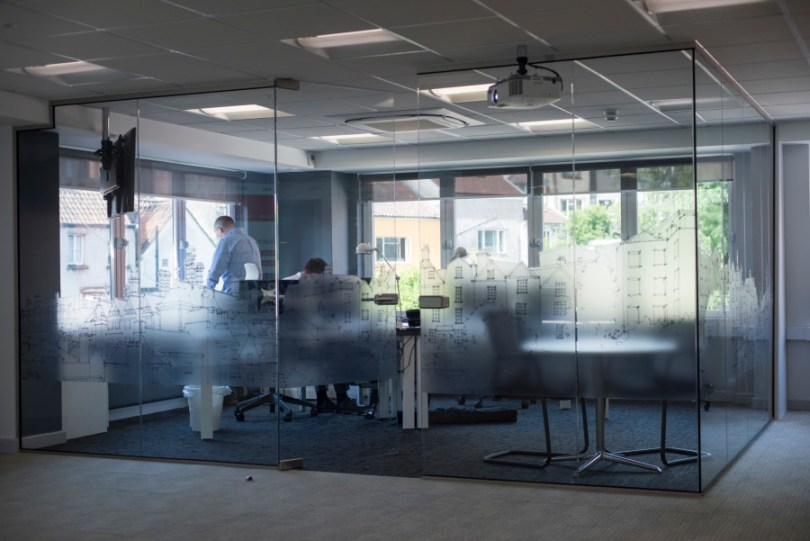 Glass pod meeting space Bristol
