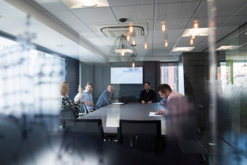 Glass, lighting, modern look offices