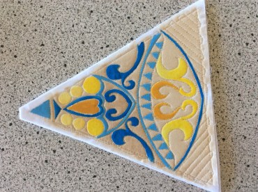 One triangle completed - 5 of this design to go