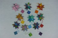 fabric stars and gift tags