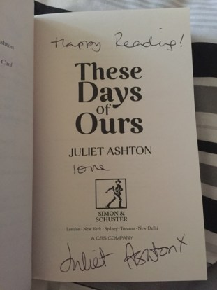 These days are ours signed print copy