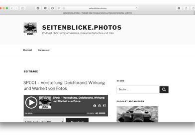 seitenblicke.photos – Podcastprojekt