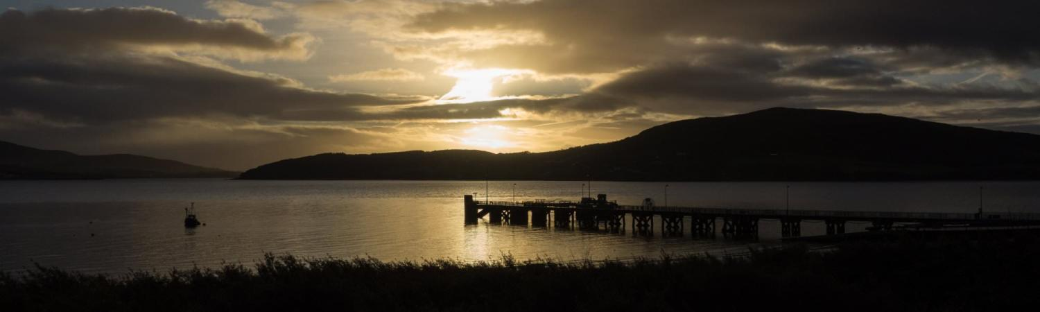 dawn at Rathmullan pier