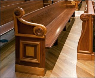 Church Furniture Restoration  Pew Refinishing  Ratigan