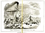 1845年の鉄道ジャガノート(松村昌家編『「パンチ」素描集』岩波文庫)
