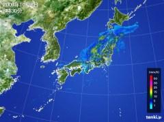 台風18号(10月8日 午前8時30分)