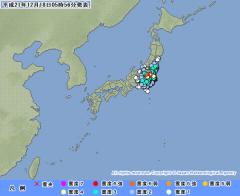 気象庁地震情報(2009年12月18日 午前5時56分発表)