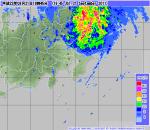 レーダー・ナウキャスト2011年9月21日19時45分(気象庁)