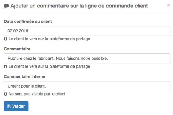 Commande client