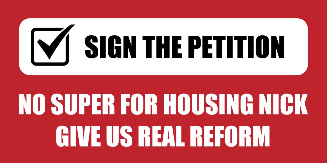 Senator Nick Xenophon Discusses Housing Petition Concerns