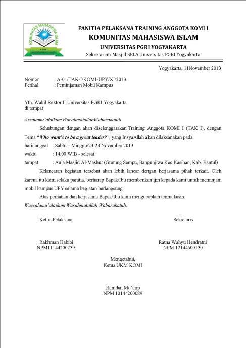 Surat Peminjaman Mobil : surat, peminjaman, mobil, Contoh, Surat, Peminjaman, Ratnawahyu