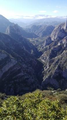 Desfiladero de la Hermida and the Picos de Europa from the Mirador de Santa Catalina