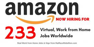 """233 """"Virtual"""" Jobs with Amazon - OPEN NOW, Worldwide!"""