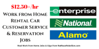 Work from Home Rental Car Customer Service & Reservation Jobs
