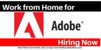 Work from Home for Adobe - Now Hiring