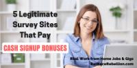 5 Legitimate Survey Sites That Pay