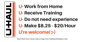 U-Haul is Hiring Again! No Exp. Necessary - Work from Home