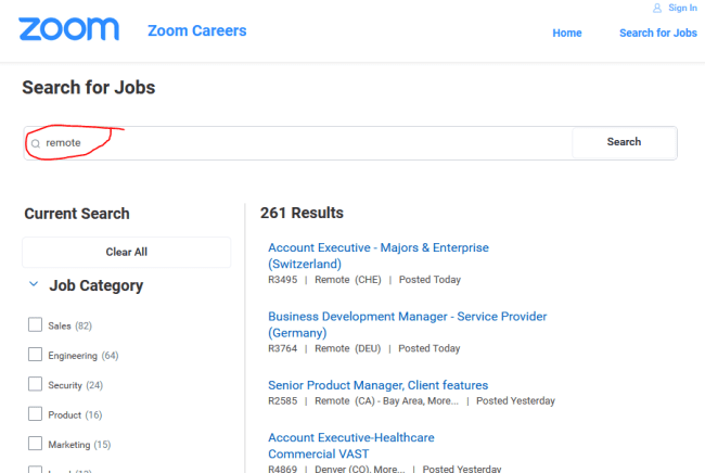 work from home for Zoom