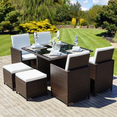 rattan table and chairs fancy folding cube set furniture the garden blog