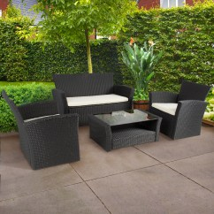 Rattan 4 Piece Sofa Set Black Ashley Furniture Darcy Chaise How To Select The Best Quality Patio For Your ...