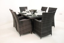Wicker Rattan Dining Table and Chairs