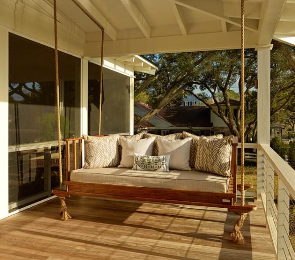 Outdoor Wicker Swing Chair