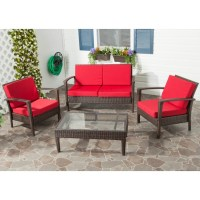 patio furniture with red cushions | Roselawnlutheran