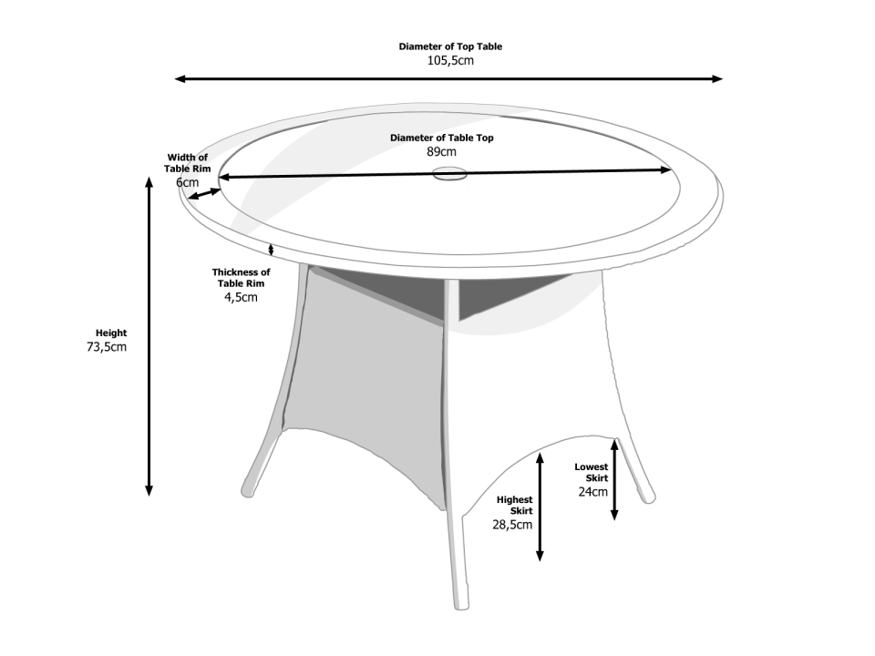 Small Round Dining Table In Grey