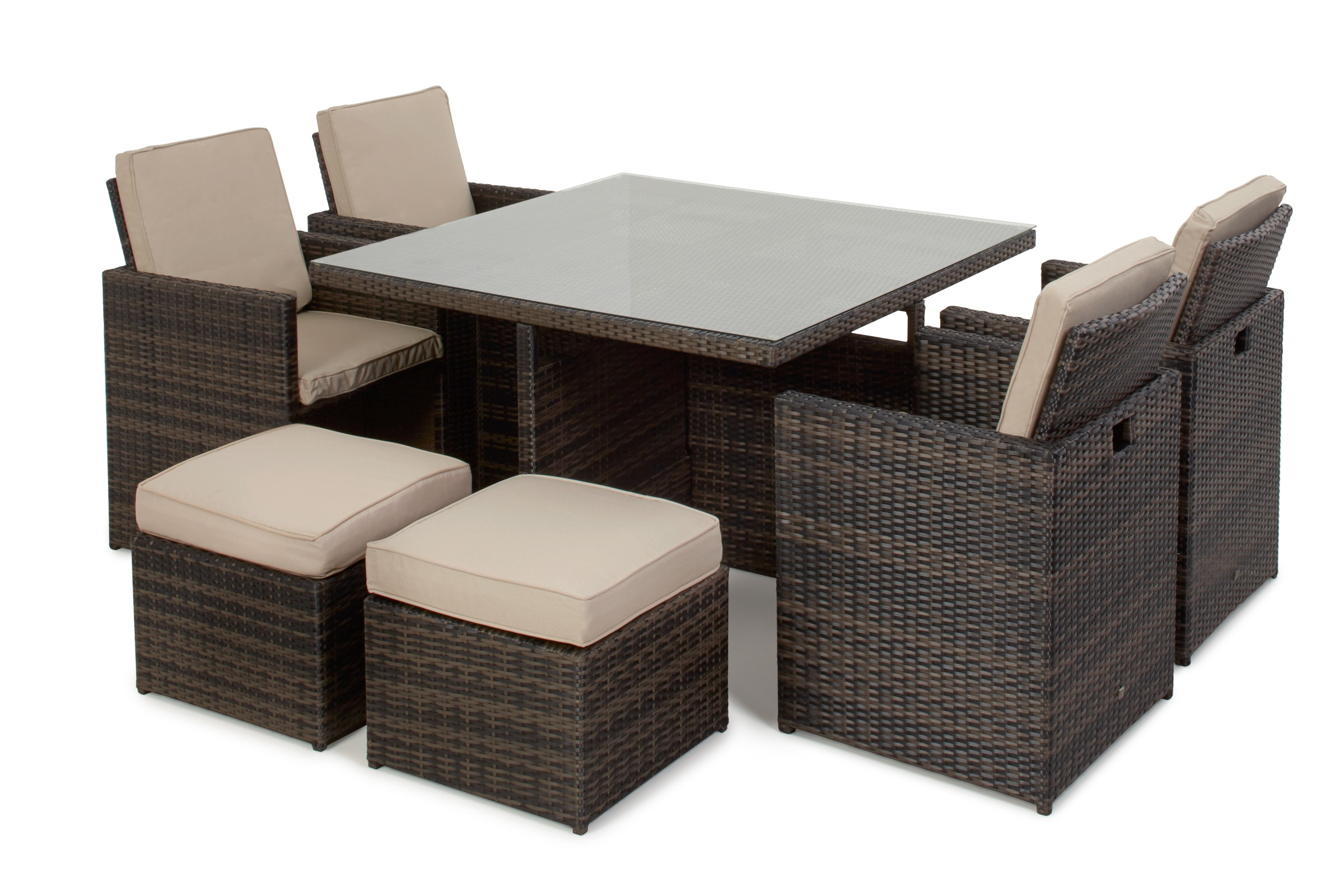 Rattan Corner Sofa Set Uk Maze Rattan 5 Piece Garden Furniture Cube Set | Rattan