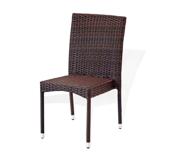 Outdoor Brown Resin Wicker Dining Chairs