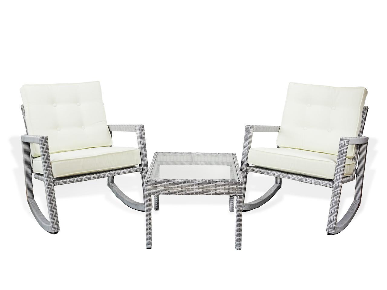 Buy Patio 3pc Lounge Set rocking chairs and coffee