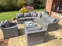 denver curved rattan complete sofa