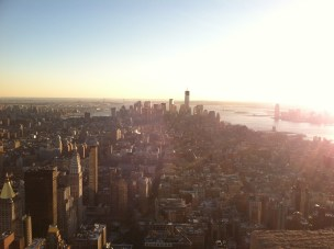 Atop the Empire State Building.