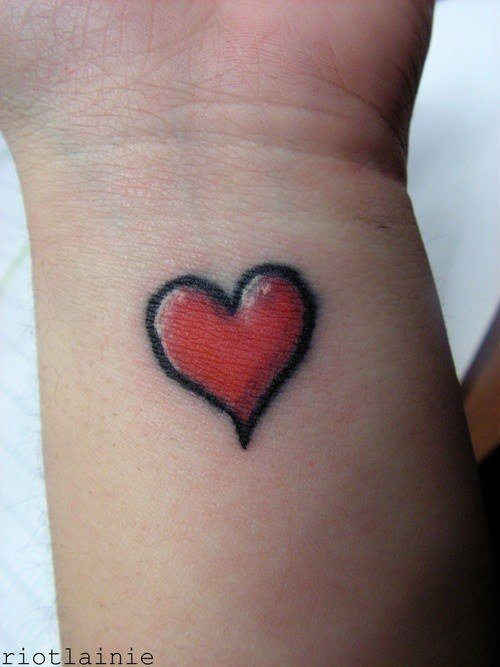 Pin Simple Love Heart Tattoo Designs On Pinterest